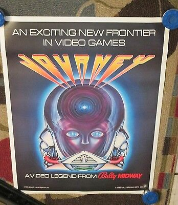 1983 Bally/midway Journey Video Game  Poster