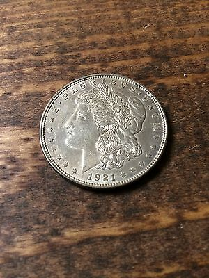 1921 Morgan Silver Dollar-Circulated-United States of America-Coin Currency-One