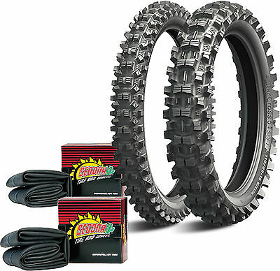 Front/Rear Starcross 5 Soft Tire Kit w/ Tubes 80/100-21 front, 100/90-19 rear