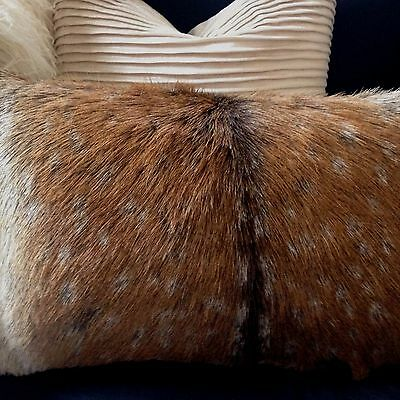 Bn Ugg Home Australia Chital Deer Deerskin Hide Fur Filled Cushion