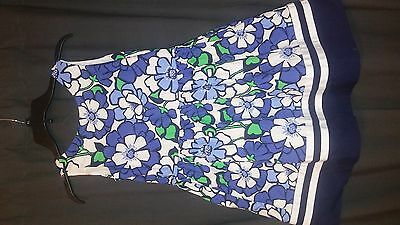 Gymboree  Girl's  Dress  Size   10  Cotton  Sleeveless   Floral   Euc