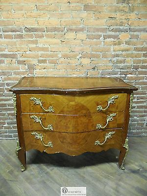 French Louis XV Style Reproduction 3 Drawer Commode Chest