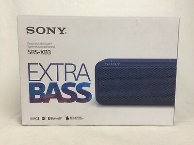 Sony SRS-XB3, BLUE Portable Wireless Speaker with Bluetooth (Blue)