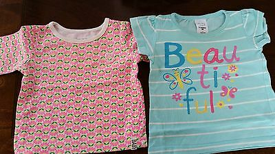 2x Baby Girl bundle lot Tops Long & short sleeve size 000 0-3 months