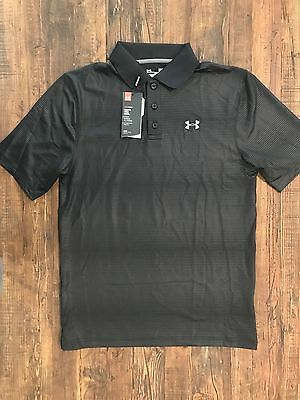 Under Armour Men's UA Embossed Golf Polo Shirt Black 1268401
