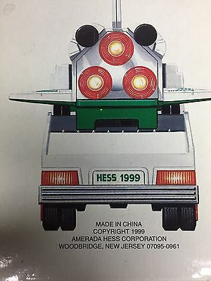 1999 Hess Toy Truck And Space Shuttle With Satellite.