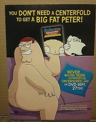 2005 Family Guy Stewie Griffin Untold Story Dvd Ad Big Fat Peter
