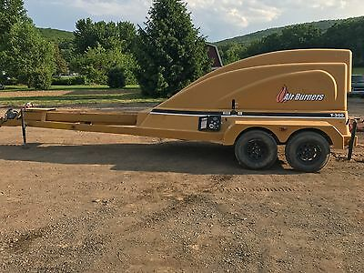 T-300 Trench Burner PIT BURNER AIR CURTAIN DIESEL ENGINE TRAILER MOUNTED BOB CAT