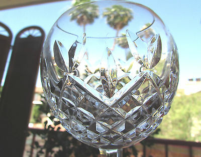 WATERFORD crystal LISMORE pattern Hock Wine Glass/Goblet  7-1/2""
