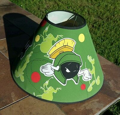 1997 Looney Tunes Marvin the Martian Child Cartoon Lamp Shade Warner Brothers