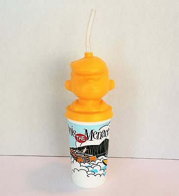 Vintage Dairy Queen Dennis the Menace Cup with Straw Collectible