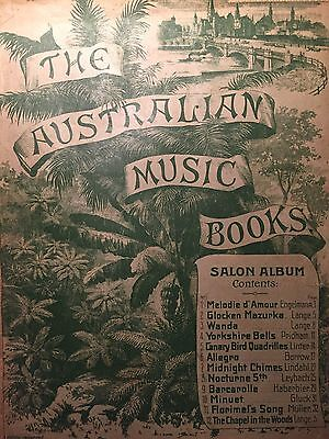 "The Australian Music Books, ""Salon Album"" Vintage Sheet Music"