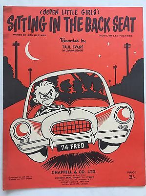 Sitting In The Back Seat, Seven Little Girls, By Hilliard & Pockriss Sheet Music