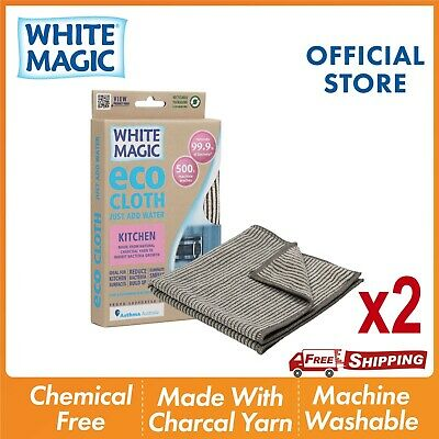 White Magic Kitchen Cleaning Microfibre Eco Cloth Kitchen Surfaces Benchtop Sink