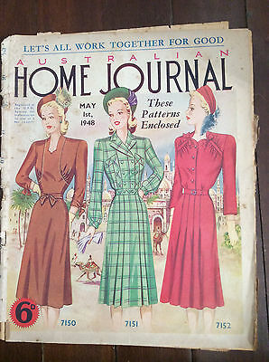 Australian Home Journal magazine 01 May 1948 - includes pattern