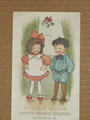Vintage Victorian Advertising Card Ritter & Fisher House Furnishing Kutztown, PA