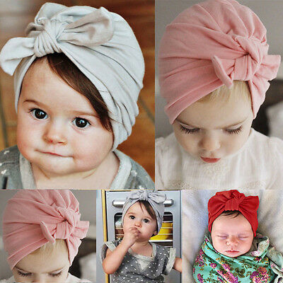 Newborn Baby Toddler Kids Boy Girl Bowknot Cute Soft Cotton Beanie Hat Warm Hat