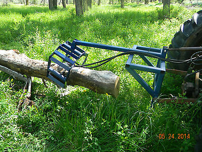 Plans to make a Hydraulic Log Grapple for Category 1 3pt Hitch, Tractor Mounted