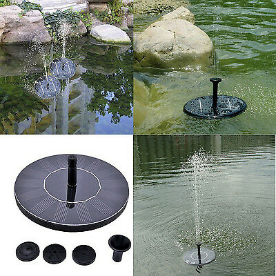 Solar Power Bird Bath Fountain Water Floating Small Pond Garden Patio Decoration