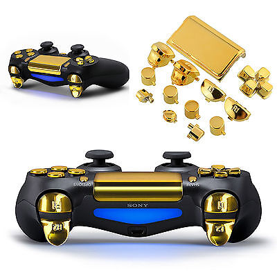 Playstation 4 PS4 Controller Modding Knöpfe Buttons Tasten Gold Steuerkreuz