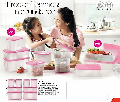 New Tupperware CNY Freezermate set (8) Refrigerator Fridge Food Container stor