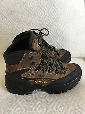 LOWA Men's Hiking GORE-TEX Vibram Sole Brown Leather Boots Size 9