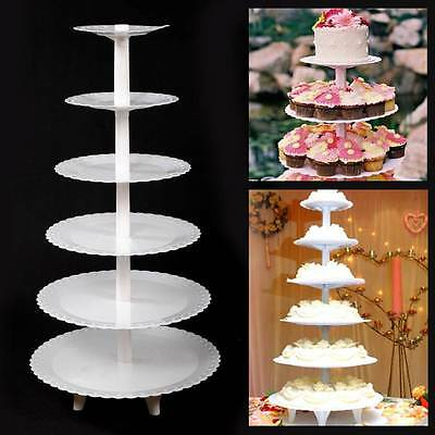 New 6 tier Plastic Party Cupcake Food Wedding Muffin Cup Cake Stand Plates