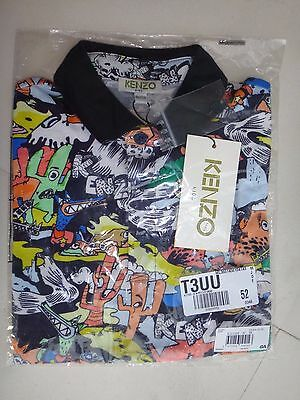 Kenzo Kids Polo size 8 Multicolored BRAND NEW WITH TAGS 100% COTTON