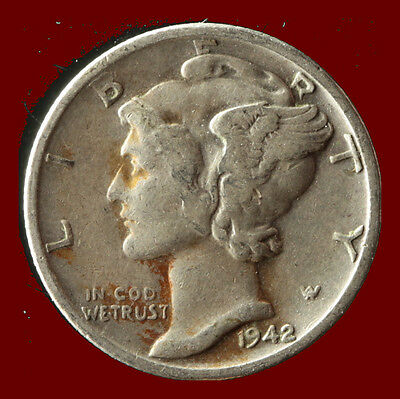 1942-S Mercury 90% Silver Dime Ships Free. Buy 5 for $2 off