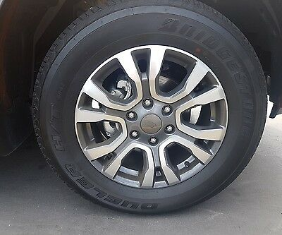 Genuine Ford Ranger Wildtrak 18 inch wheels with tyres