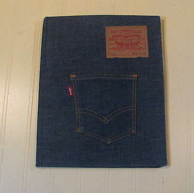 Vintage Levi Strauss & co 501 Binder Notebook clipboard Bear-of-a-clip COOL!