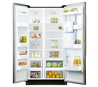 SAMSUNG RSA1RTPN American Style Fridge Freezer Silver Energy rating A+