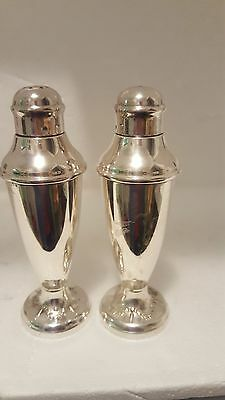 Vintage Australian Made A1 Silver Plate Salt And Pepper Shakers