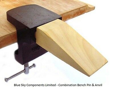 Combination Bench Pin And Anvil With Brass Fibre Hammer Jewellers Craft