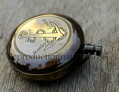 Maritime Handmade Antique Brass Camping Compass Nautical Working Pocket Compass