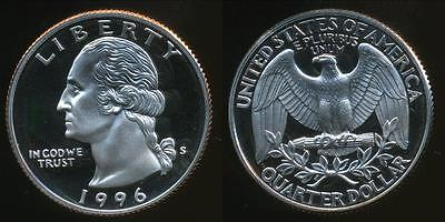 United States, 1996-S Quarter, 1/4 Dollar, Washington - Proof