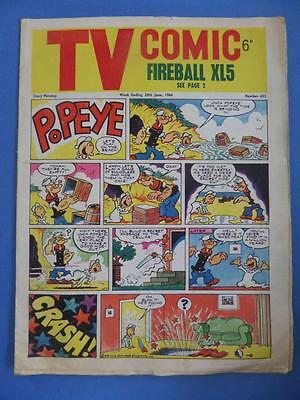 Tv Comic 653 1964 Fireball Xl5 Supercar Rare!