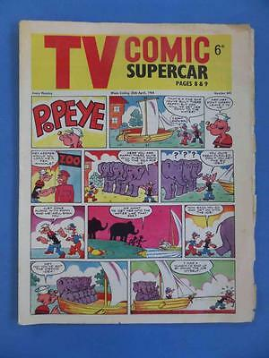 Tv Comic 645 1964 Fireball Xl5 Supercar Rare!
