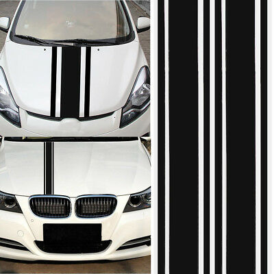 2X 72″x3″ DIY Black Car Body Vinyl Racing Stripe Pinstripe Decal Stickers AU