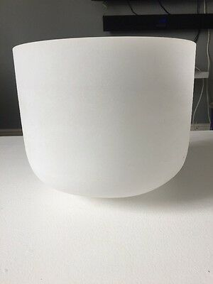 Frosted Quartz Crystal Singing Bowl 11 inch, VGC