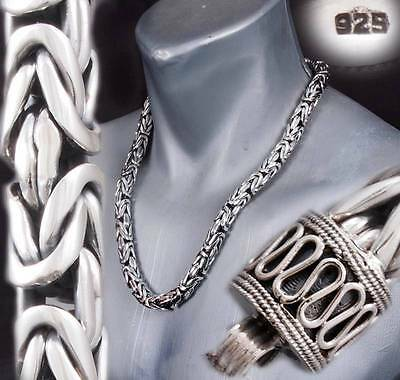 """9mm HEAVY BALI BYZANTINE 925 STERLING SILVER MENS NECKLACE KING CHAIN 24 26 30"""""""