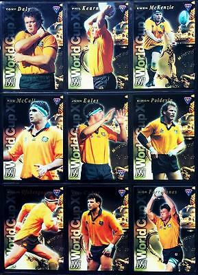 1995 Futera Rugby Union 1991 World Cup 15 Trading Card Set Mint