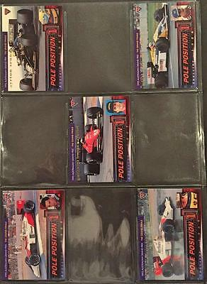 1995 Futera F1 Formula One Pole Position Trading 10 Card Set Mint Condition