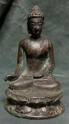 INDONESIA: Java - old bronze Buddha figurine