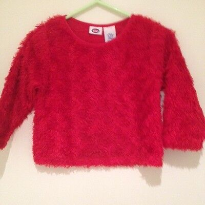 KIKS Baby Girl's Toddler Red Shaggy Jumper - Size 1-2