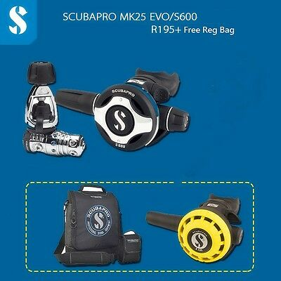 Scubapro MK25EVO S600 with R195 Octopus with free Regulators Bag