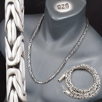 """6mm BALI BYZANTINE 925 STERLING SILVER MENS NECKLACE KING CHAIN 20 22 24 26 30"""""""