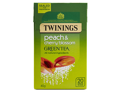 Infuso Twinings Green Tea, Peach and Cherry Blossom