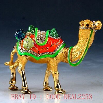 Chinese Cloisonne Handwork Carved Camel Statue QW0199