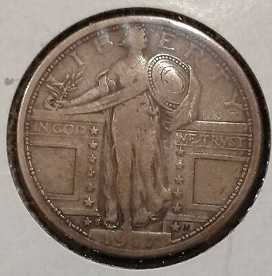 1917-S Type 1 Standing Liberty Quarter Silver 25c